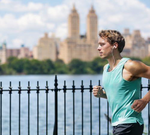 Male,Runner,Running,In,New,York,City,Central,Park,During
